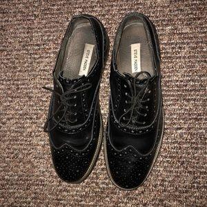Men's Black Steve Madden Oxford Dress Shoes